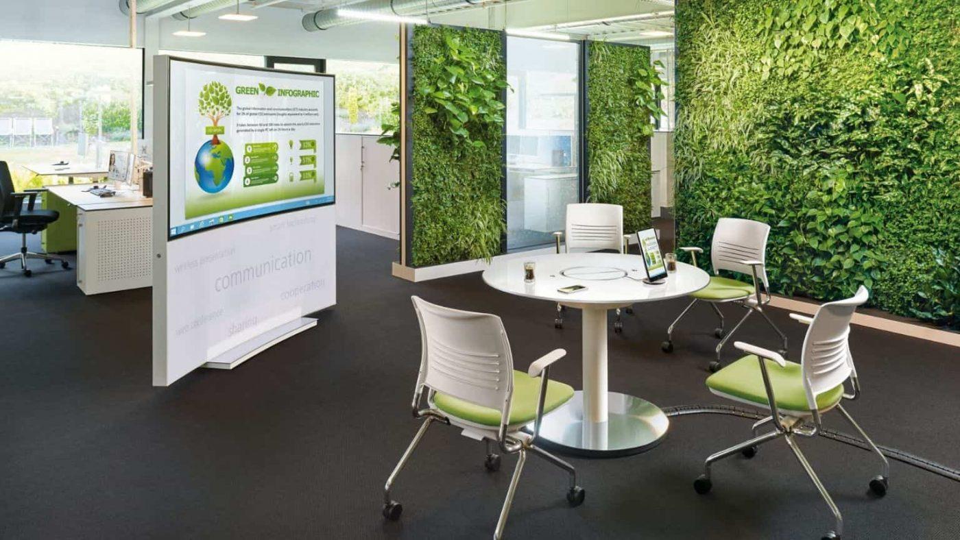 thi công cây xanh văn phòng